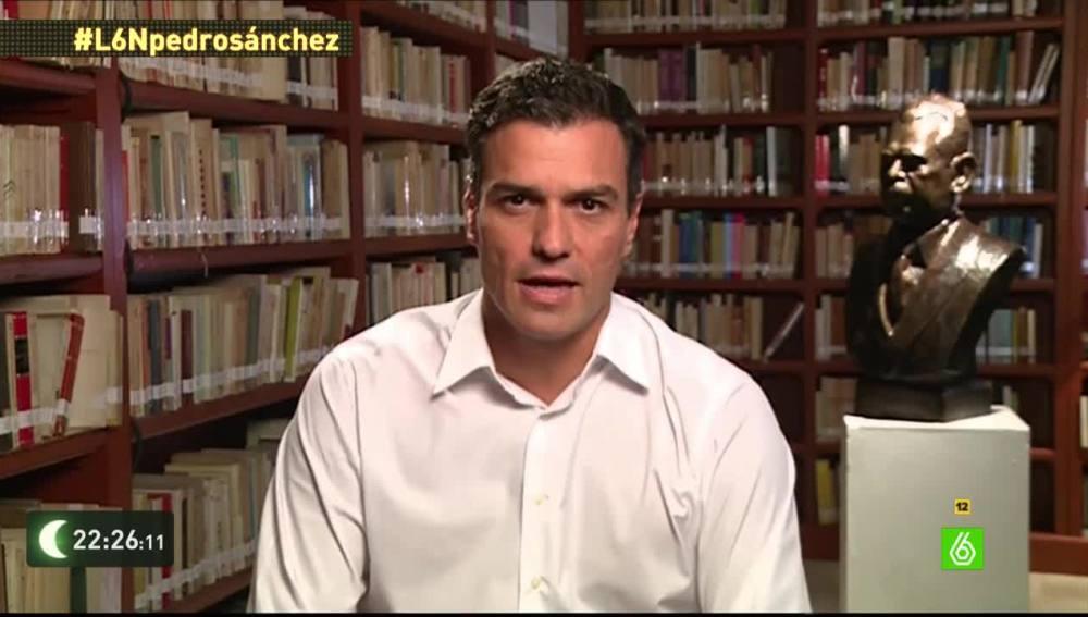 Pedro Sánchez en laSexta Noche