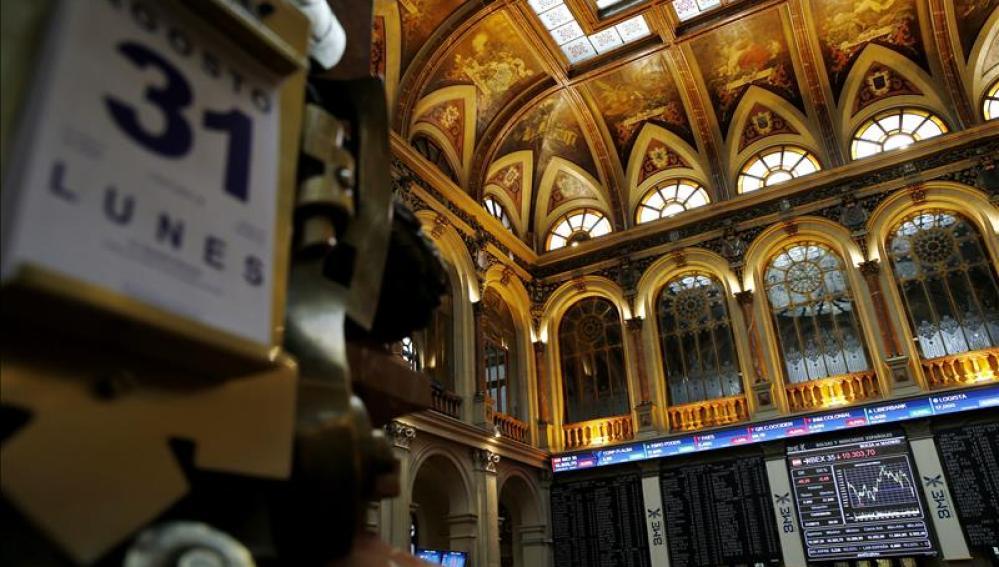 La bolsa española cae el 0,91 por ciento y vuelve a registrar pérdidas respecto a 2014