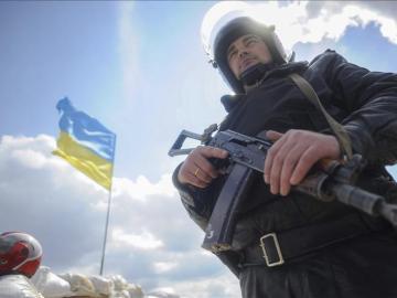 Un policía ucraniano