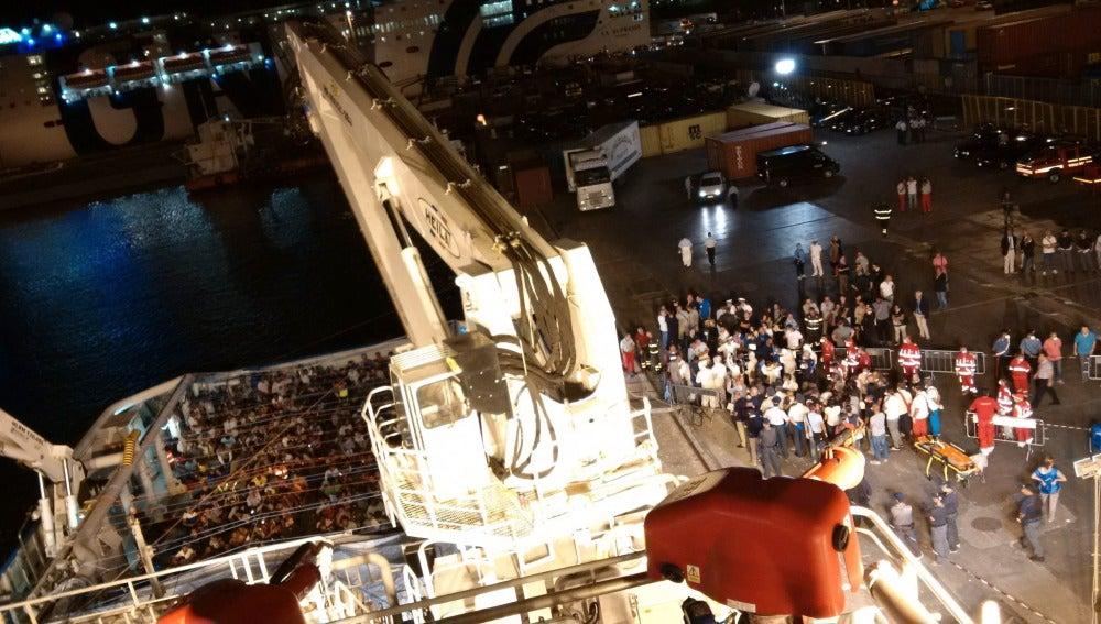Operación de rescate en las costas de Libia
