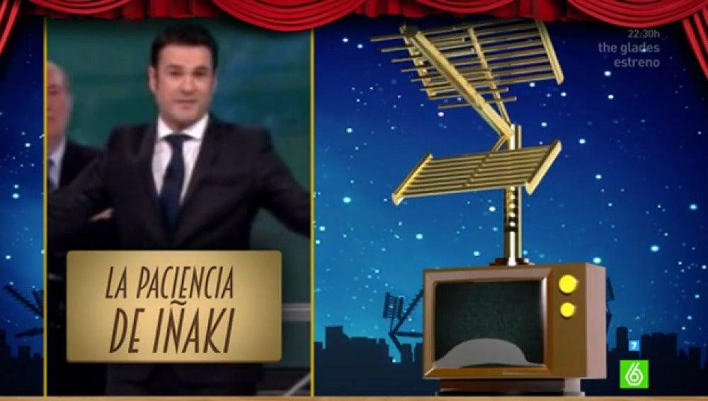Iñaki López, segundo finalista al mejor presentador nacional