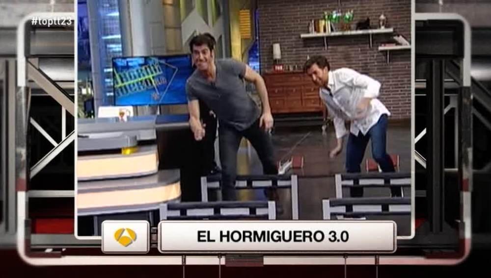 Pablo Motos y Jorge Fernández compiten 'al revés' en el plató de 'el Hormiguero'