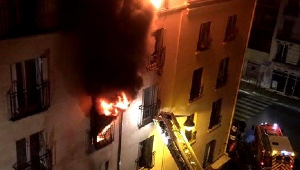Incendio producido al norte de París