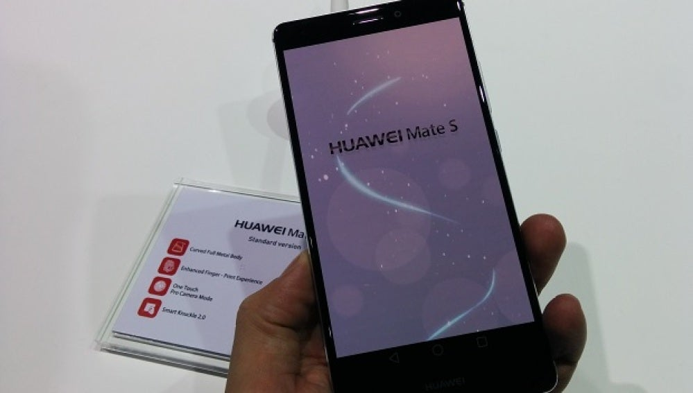 Huawei Mate S, con tecnología Force Touch
