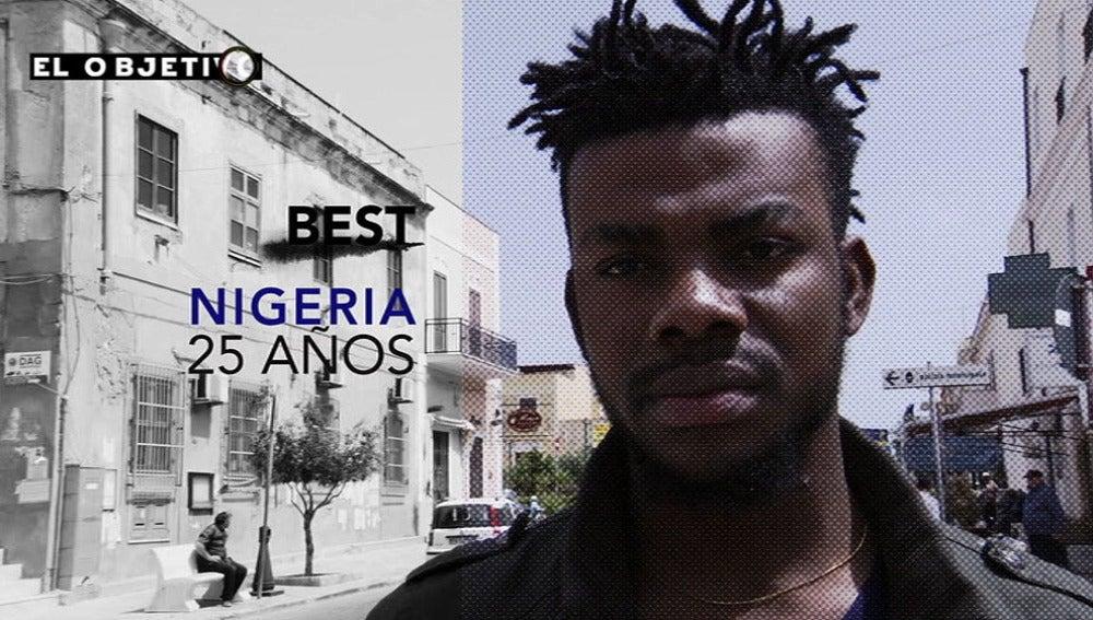 Best, inmigrante nigeriano de 25 años