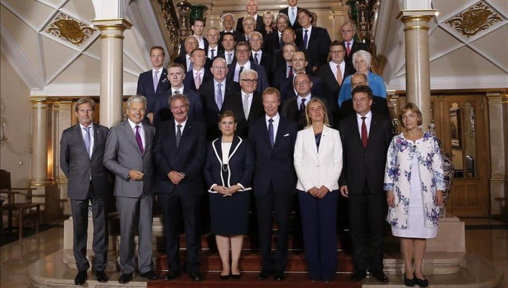 Reunión de los ministros de Exteriores de la Unión Europea que se celebraen Luxemburgo
