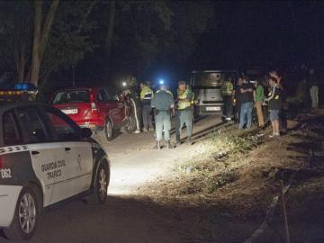 Vista del lugar donde ayer seis personas murieron tras ser arrolladas por un coche que participaba en el Rally de A Coruña
