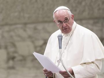 El papa Francisco durante una audiencia en el Vaticano