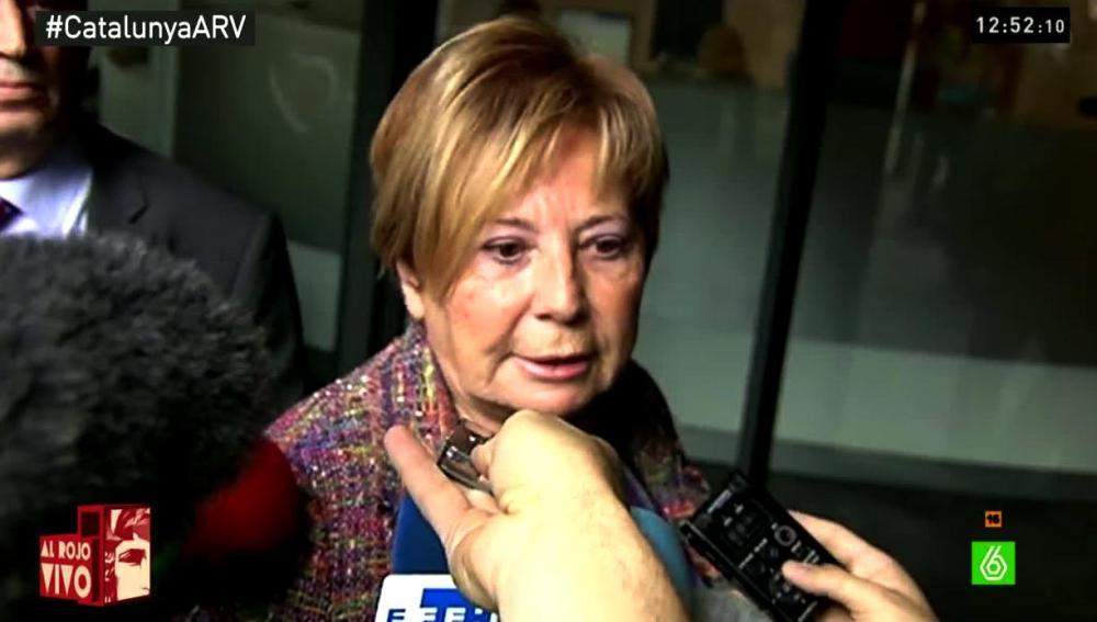 Celia Villalobos habla con los medios