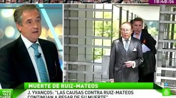 """J. Yvancos, abogado de Ruiz-Mateos: """"Las causas contra Ruiz-Mateos continúan pendientes a pesar de muerte"""