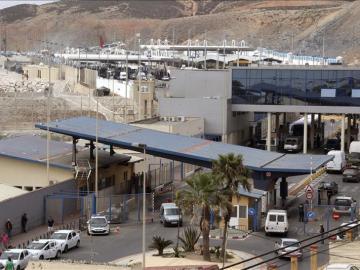 Frontera del Tarajal que separa Ceuta de Marruecos