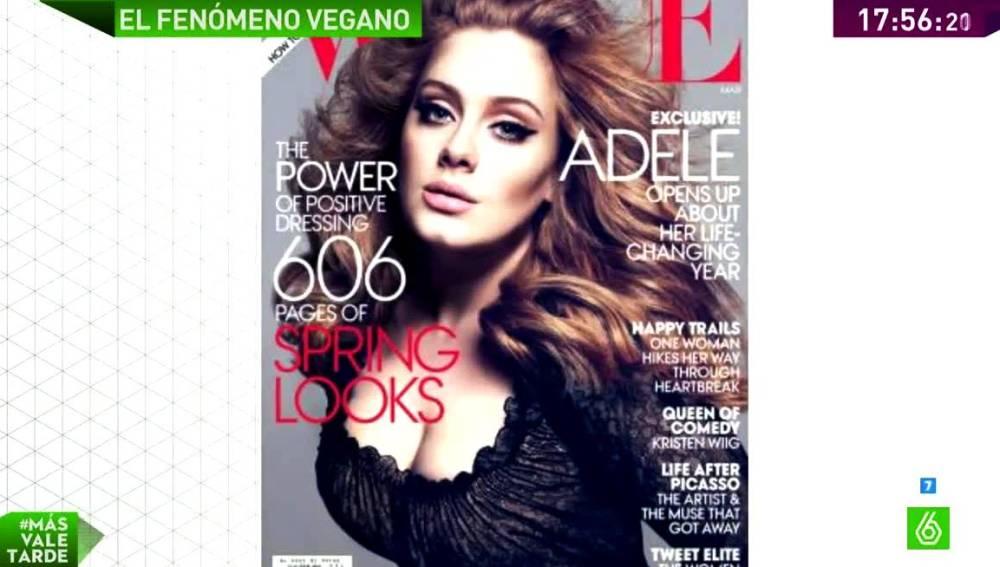Adele en una revista