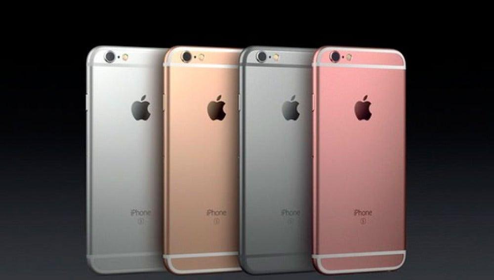 La gama de colores de los iPhone 6s