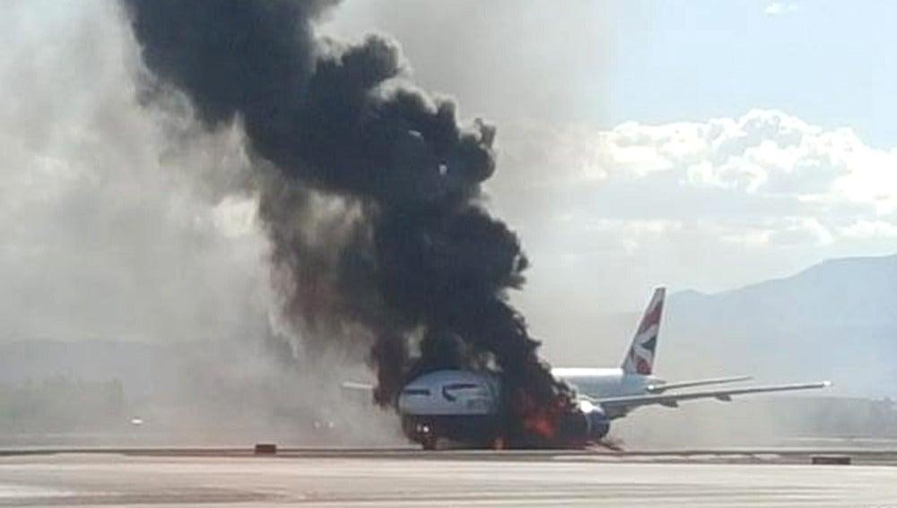 Avión accidentado en Las Vegas