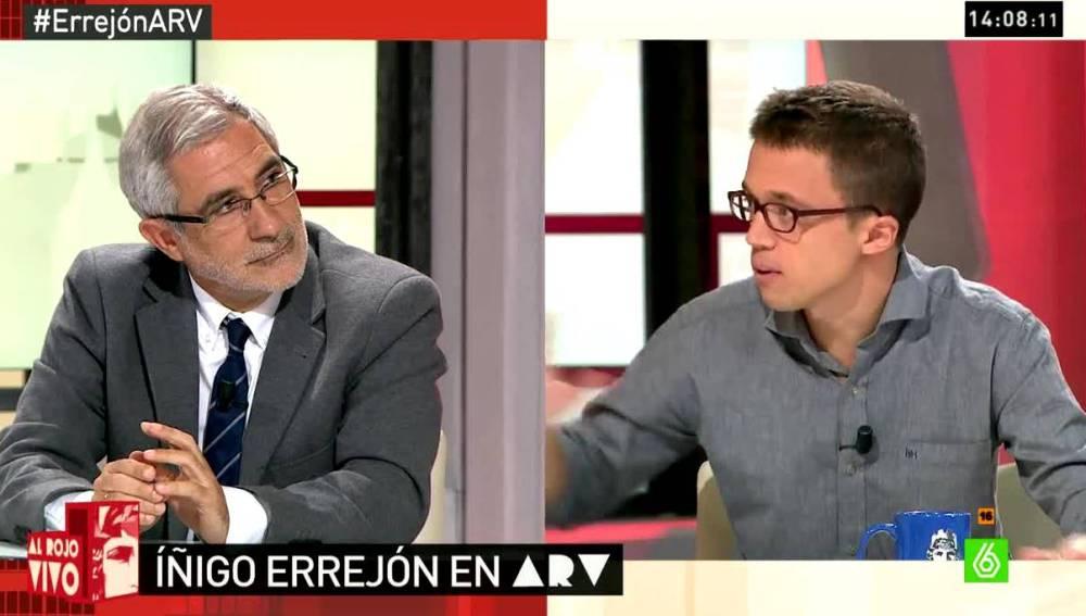 Errejón y Gaspar Llamazares