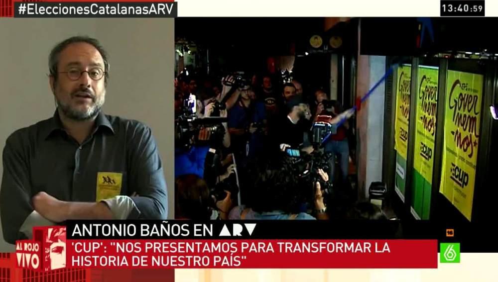 Antonio Baños, CUp