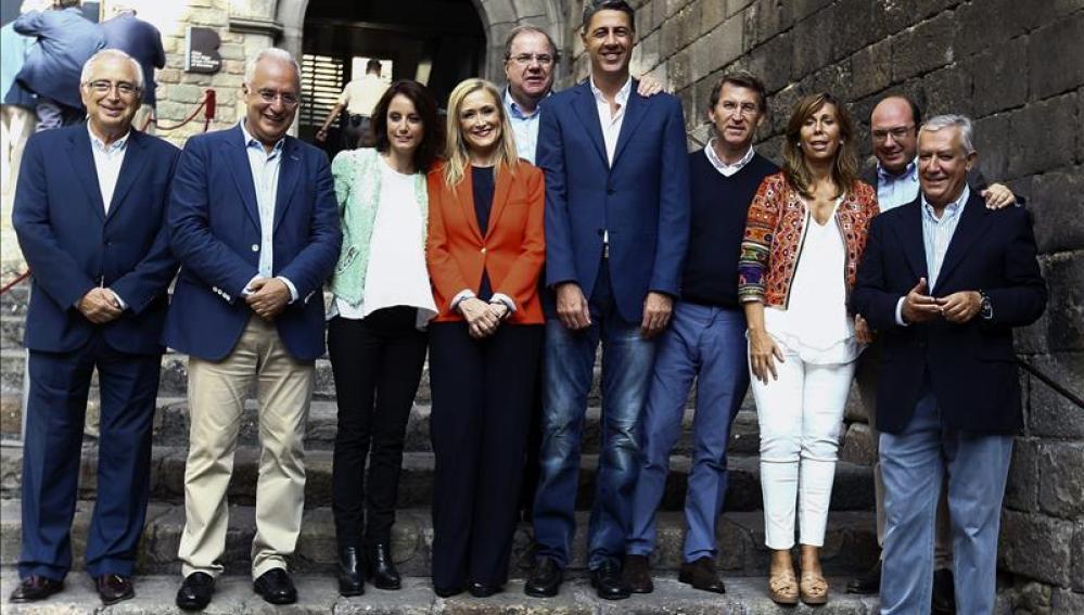 En el acto de campaña electoral donde se ha leído la 'Declaración de Barcelona' en defensa de la unidad de España