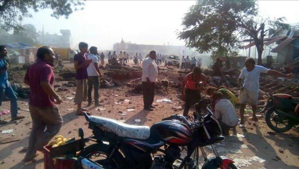 Una explosión de gas en la India deja decenas de muertos