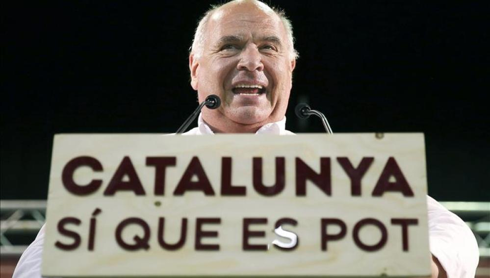 El candidato a la Generalitat por Catalunya Sí que es Pot, Lluís Rabell, durante el acto de inicio de campaña