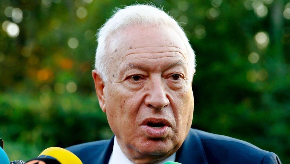 El ministro de Asuntos Exteriores, José Manuel García Margallo, durante la recepción