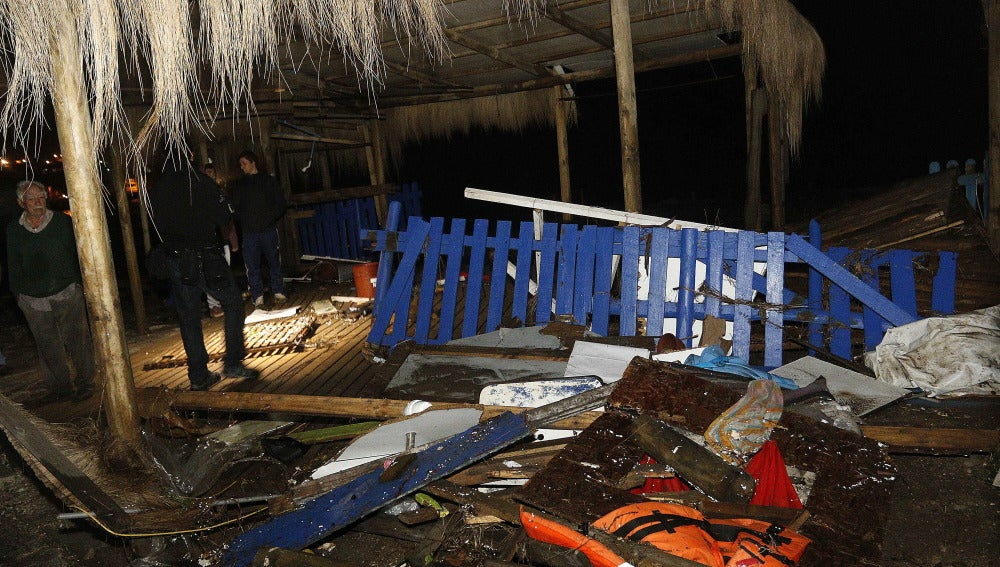 Destrozos tras el sismo en Chile