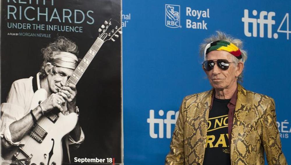 Keith Richards en la 40 edición del Festival Internacional de Cine de Toronto