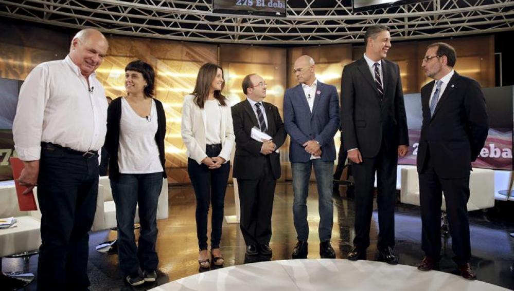 Debate entre los candidatos a las elecciones del 27S