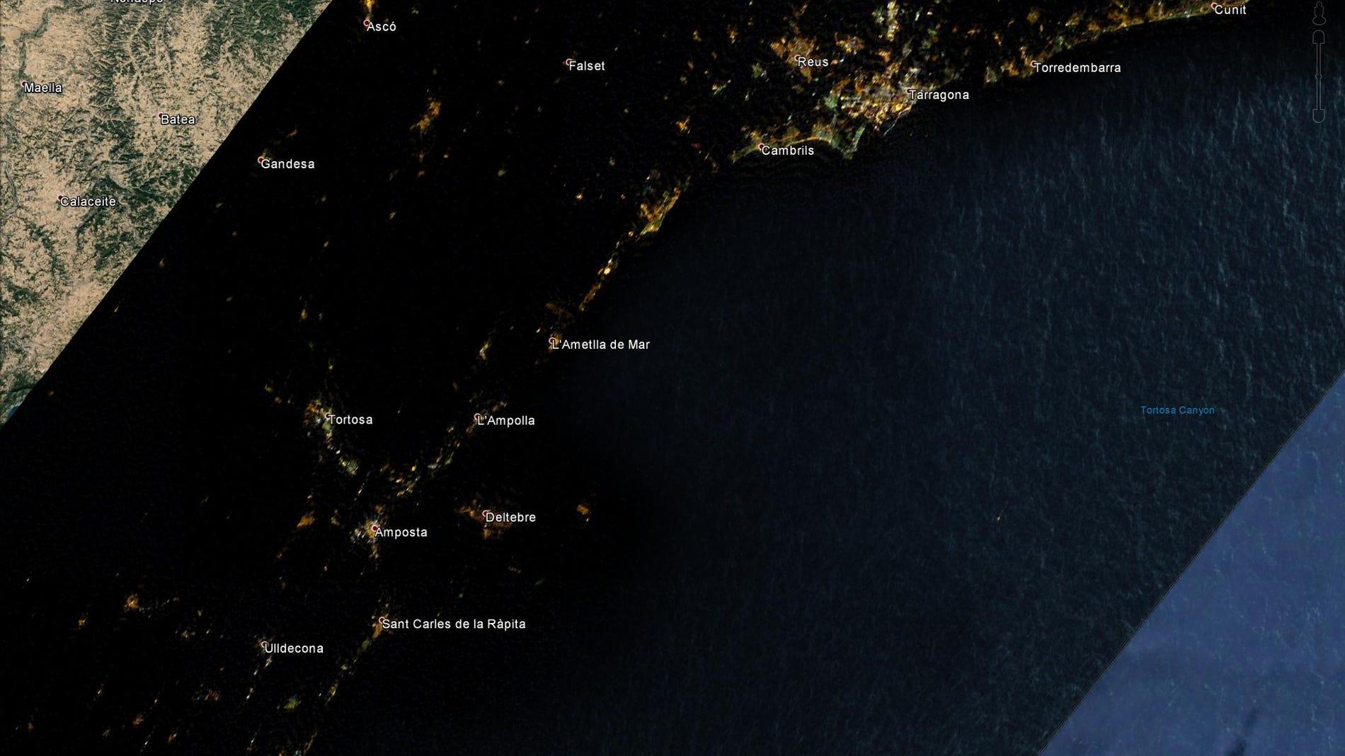 Imágenes obtenidas por satélite de la zo