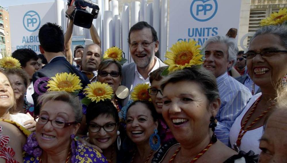 Rajoy, durante el acto en Badalona