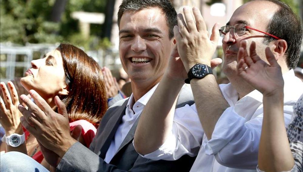 Miquel Iceta y Pedro Sánchez en Barcelona