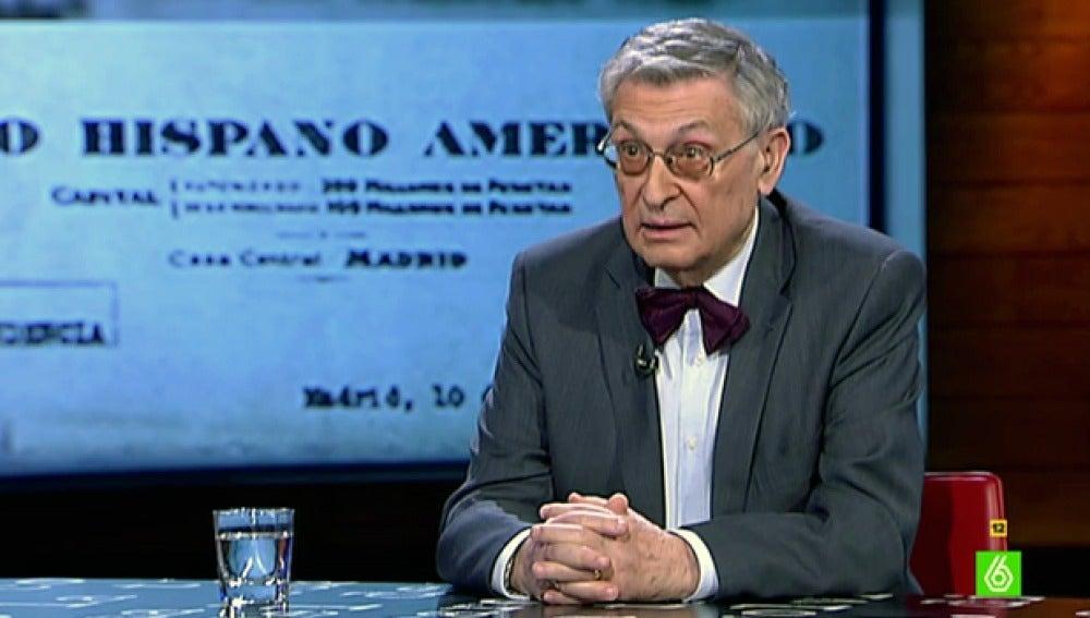 El historiador y exdiplomático Ángel Viñas visita 'El Intermedio'