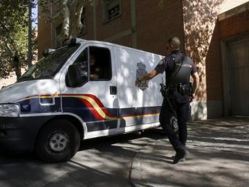 Un furgón policial en Córdoba