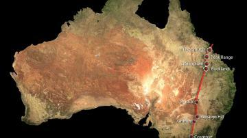 Descubren en Australia la mayor cadena volcánica continental del planeta