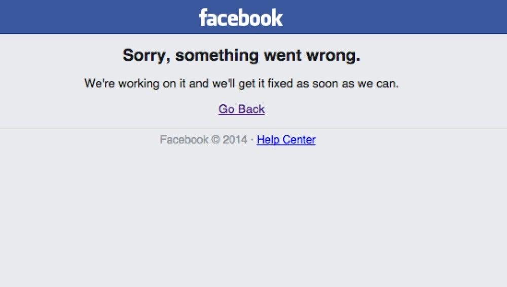 Caída mundial de Facebook