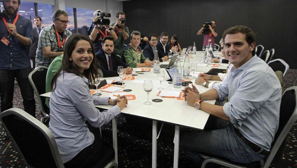 Arrimadas y Rivera analizan la jornada electoral