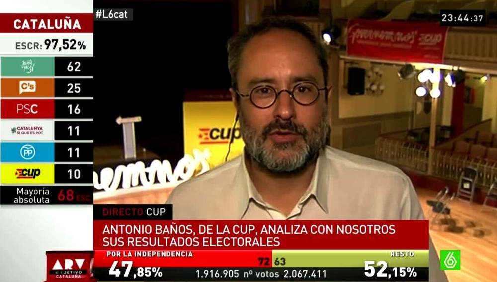 Antonio Baños, sobre el 27S