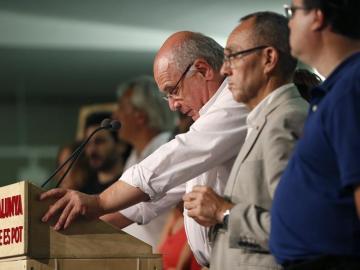 El candidato de Catalunya Sí que es Pot, Lluís Rabell, valora los resultados
