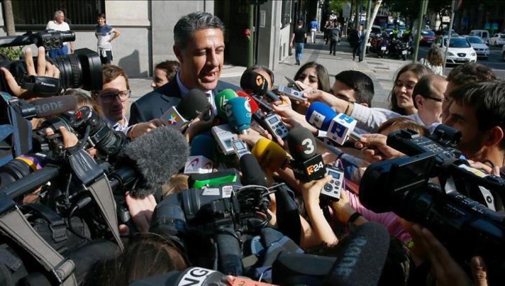 García Albiol habla con los medios