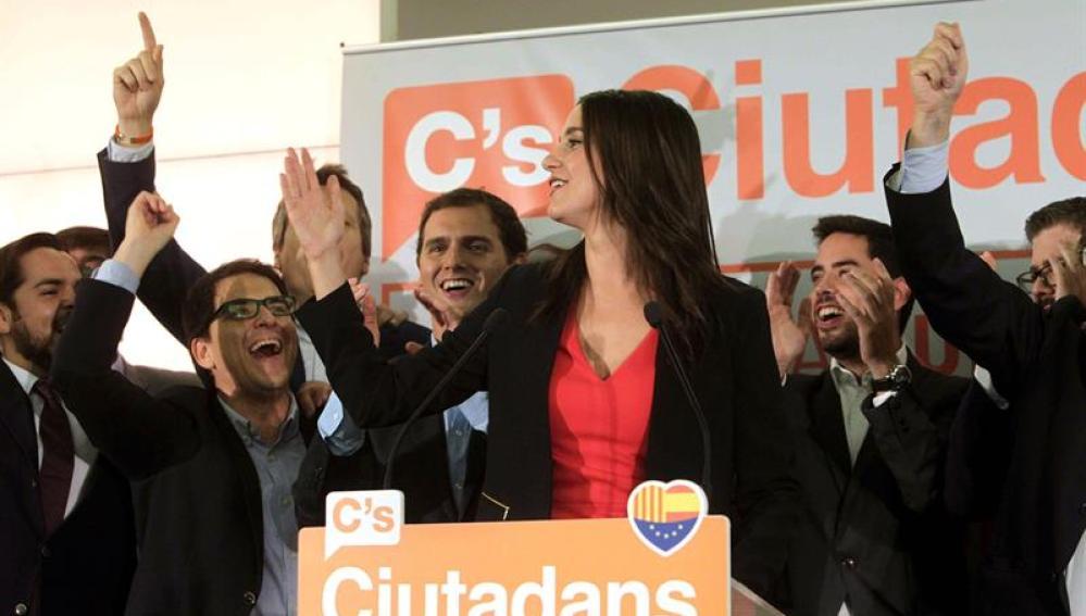 La candidata a la presidencia de la Generalitat por Ciutadans, Inés Arrimadas