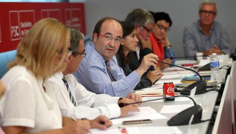 Miquel Iceta valora los resultados del PSC