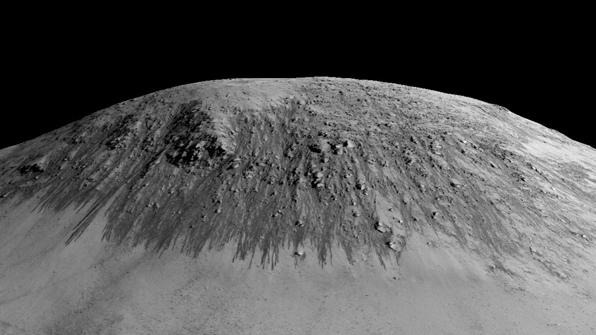 Colinas marcianas por las que podría flu