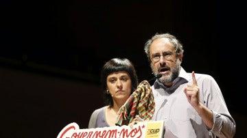 Antonio Baños y Anna Gabriel, de la CUP