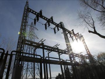 Una subestación eléctrica