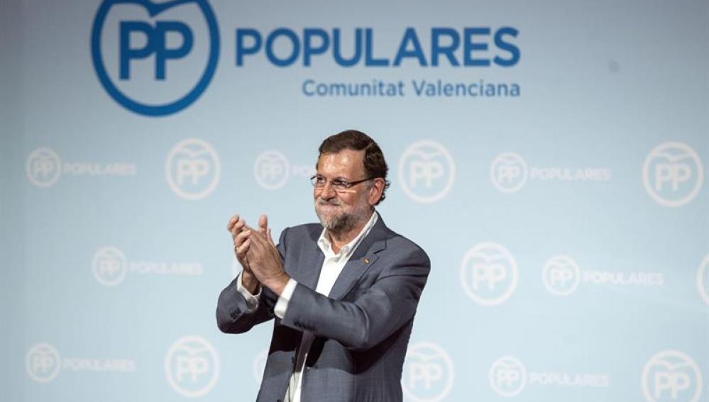 Mariano Rajoy, en un acto del PP en Valencia