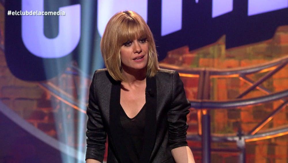 La presentadora de El Club de la Comedia, Alexandra Jiménez