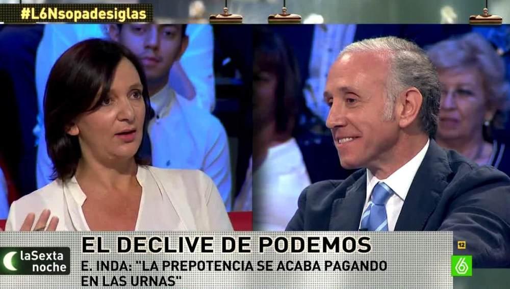 Carolina Bescansa y Eduardo Inda