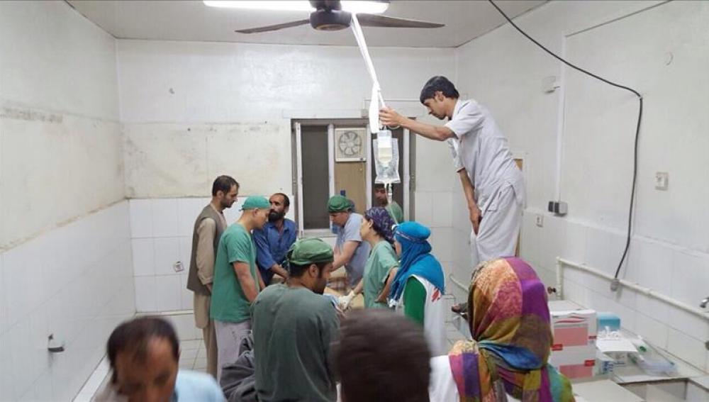 Imagen de una de las salas del hospital bombardeado en Kunduz