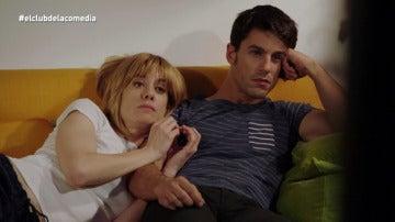 Alejo Sauras y Alexnadra Jiménez, en El Club de la Comedia