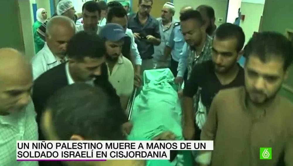 Niño palestino fallecido
