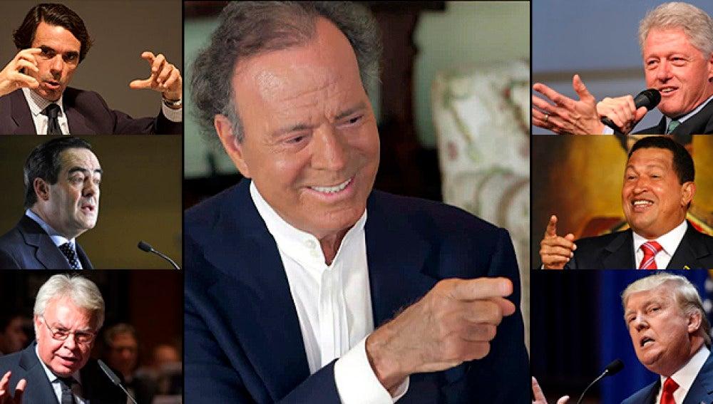 Julio Iglesias y su relación los personajes políticos